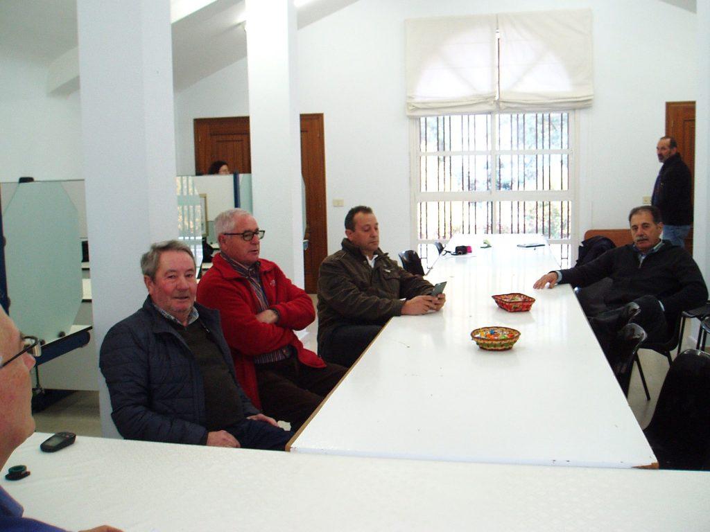 Carlos Aristegui, Evaristo García, Enrique Álvarez Barreiro y Domingo Fidalgo