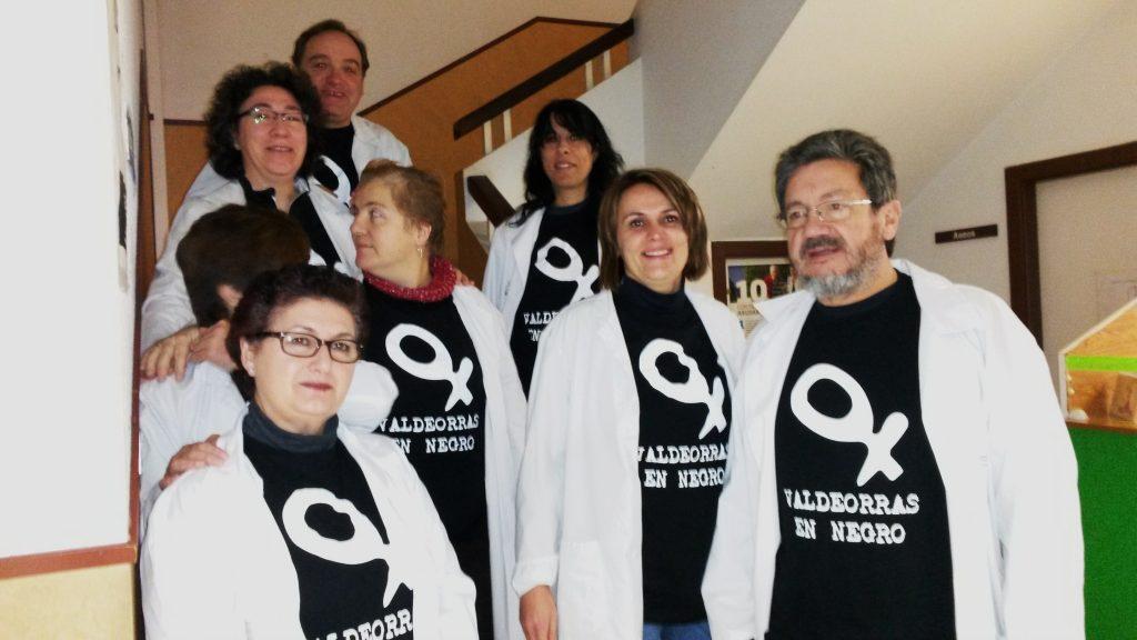 Médicos y personal del Centro de Saúde de A Rúa