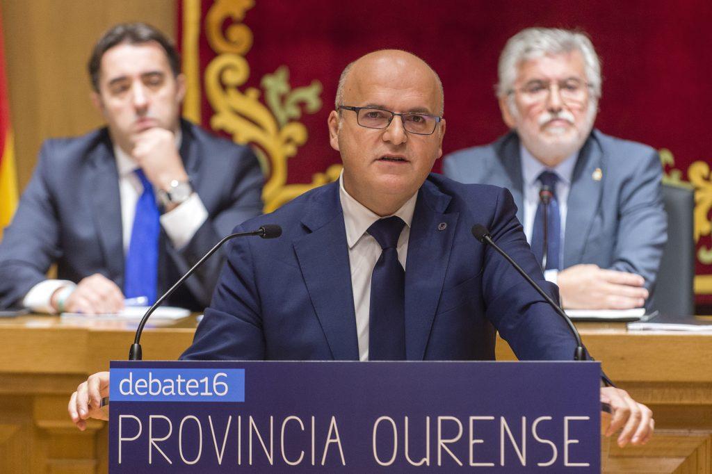 Manuel Baltar, durante a súa intervención no Debate sobre o Estado da Provincia de Ourense 2016.