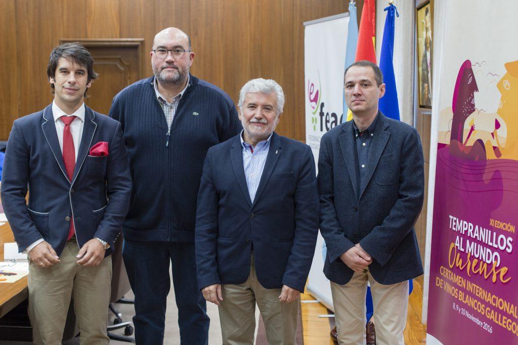 Santiago Jordi, Luis Buitrón, Rosendo Fernández e Juan Casares