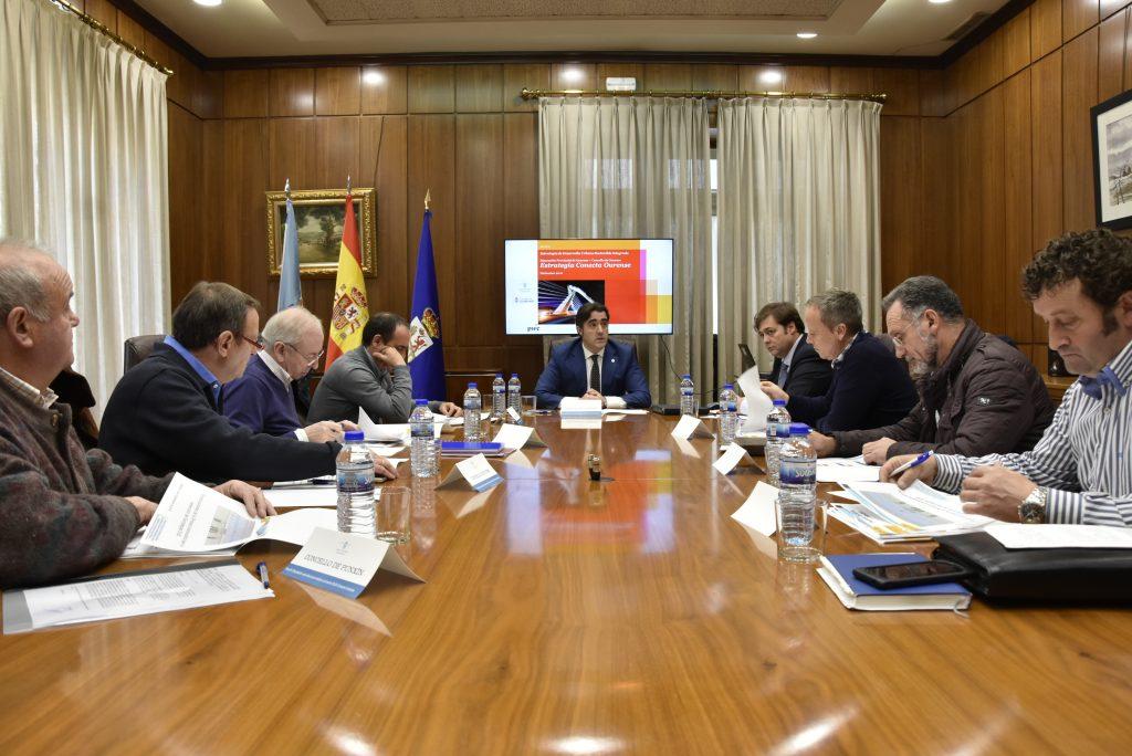 Reunión proxecto ECOU Deputación e concellos do espazo metropolitano de Ourense